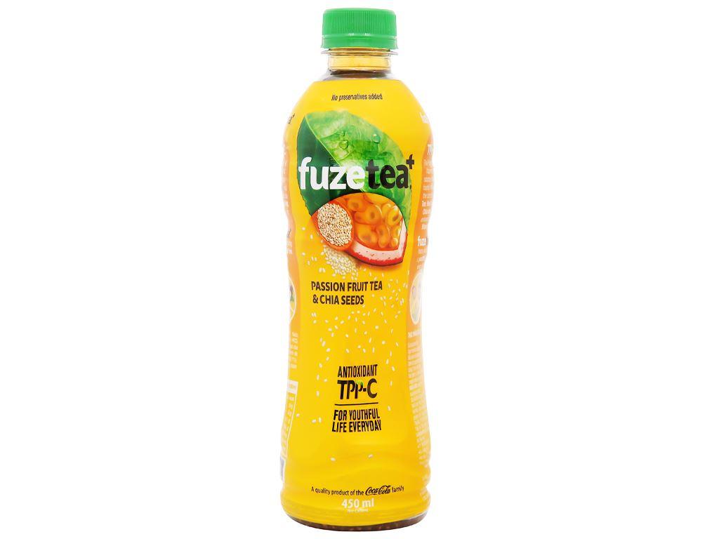 Trà chanh dây và hạt chia Fuze Tea 450ml 7
