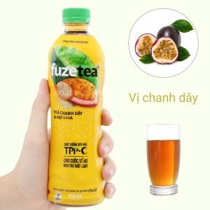 Trà chanh dây và hạt chia Fuze Tea 450ml