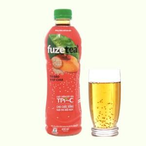 Trà đào và hạt chia Fuze Tea 450ml