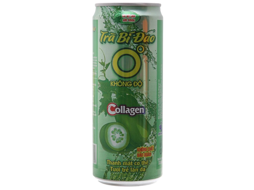 Trà bí đao Collagen Không Độ 330ml 2