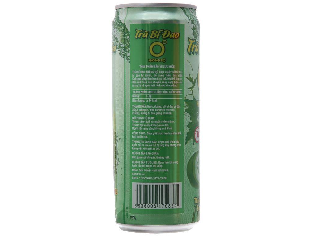 Trà bí đao Collagen Không Độ 330ml 3