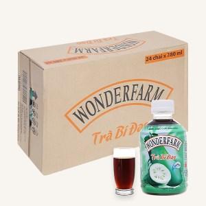 Thùng 24 chai trà bí đao Wonderfarm 280ml