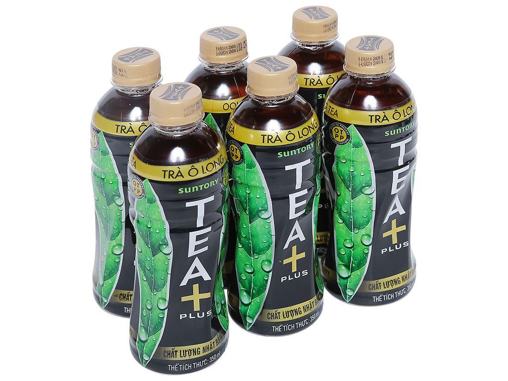 6 chai trà ô long Tea Plus 350ml 1