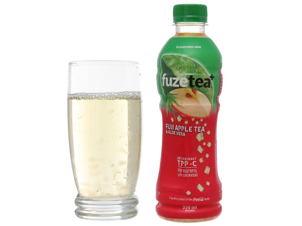 Thùng 24 chai trà táo và nha đam Fuze Tea 350ml 5