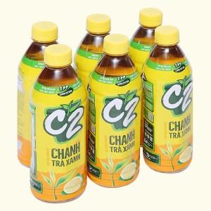 6 chai C2 hương chanh 455ml