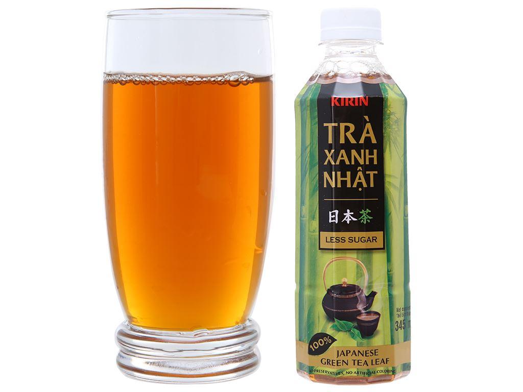 Thùng 24 chai trà xanh Nhật Kirin ít đường 345ml 4