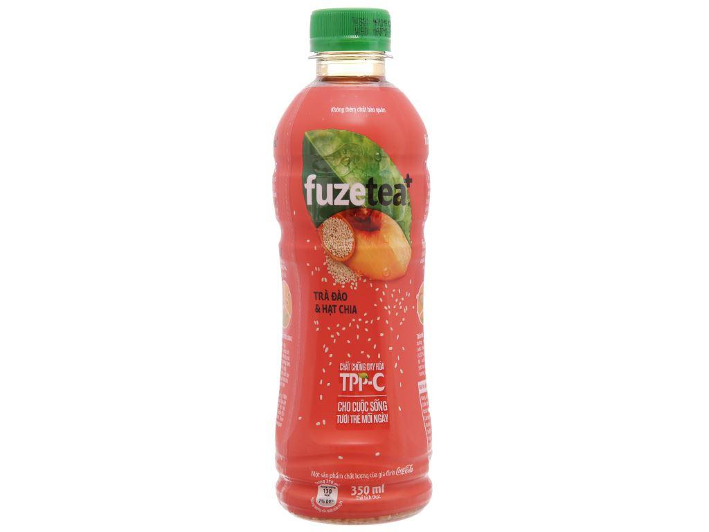 6 chai trà đào và hạt chia Fuze Tea 350ml 2