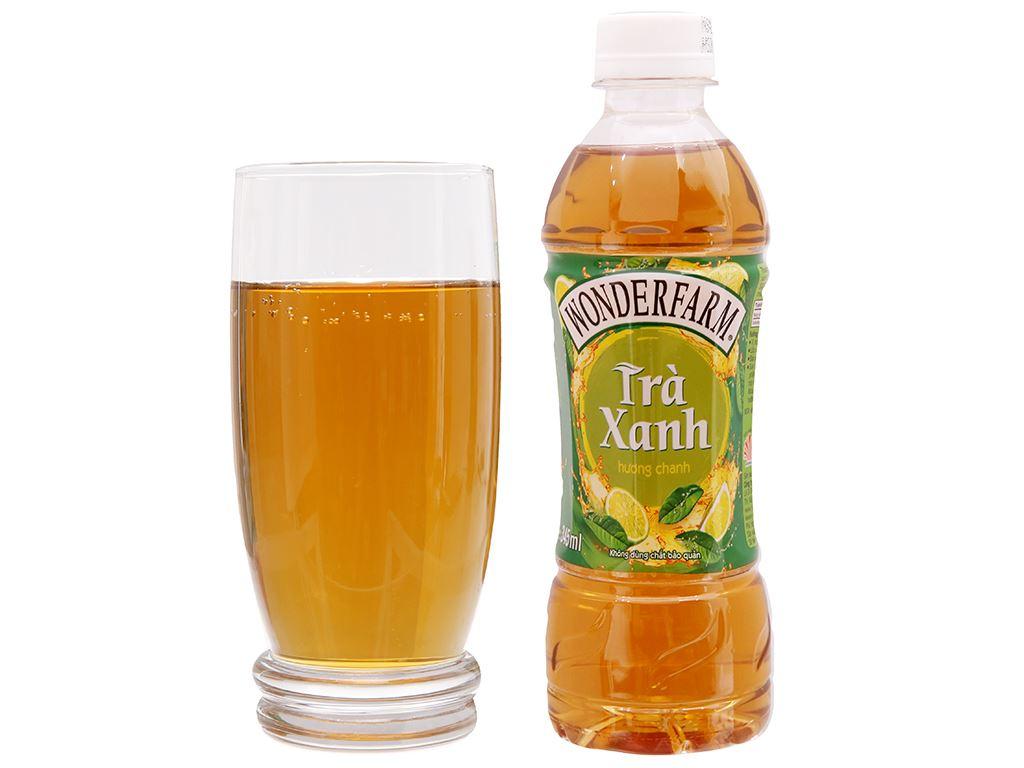 Thùng 24 chai trà xanh Wonderfarm hương chanh 345ml 3