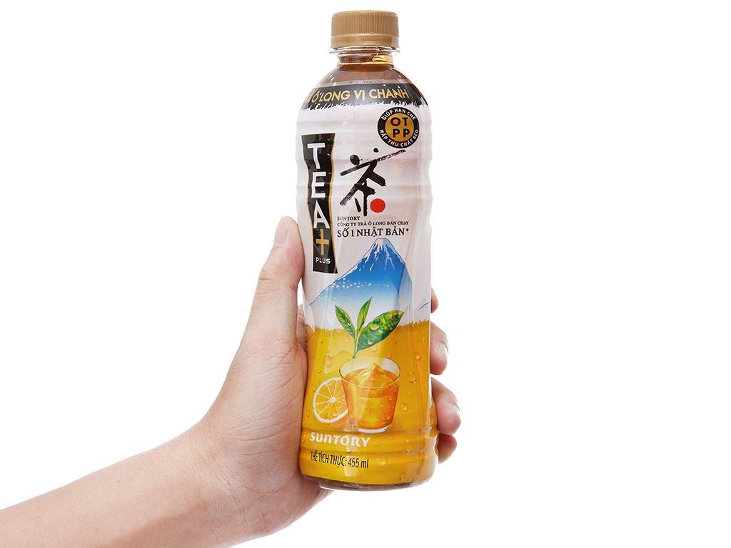Trà ô long Tea Plus vị chanh 455ml 5
