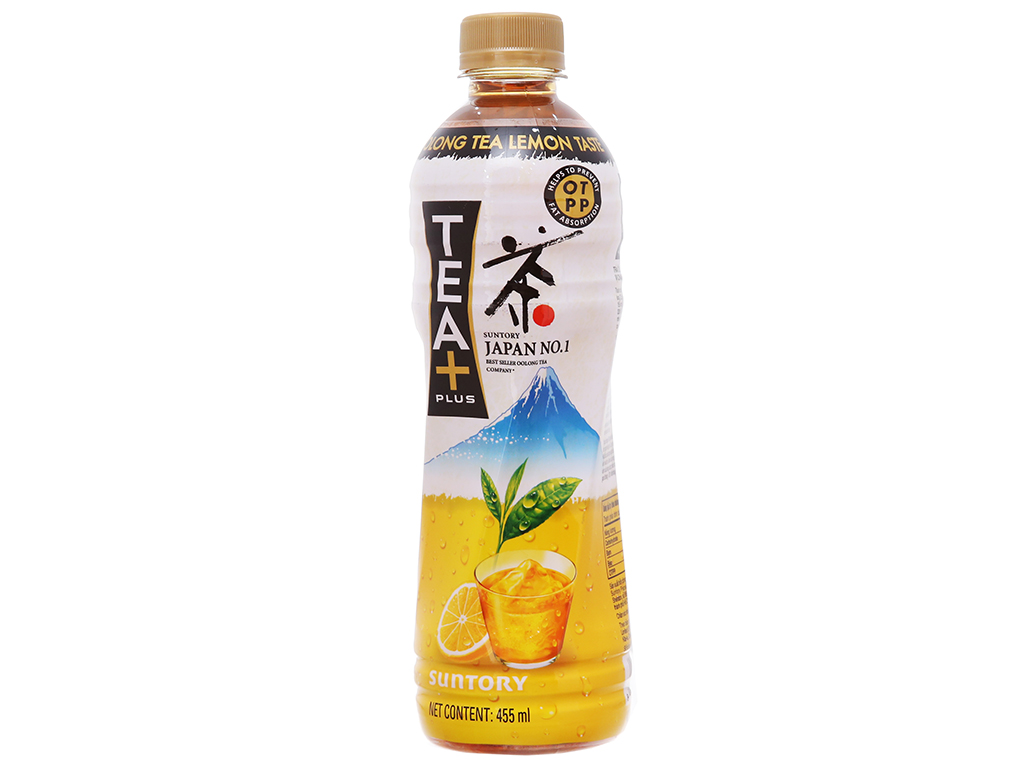 6 chai trà ô long Tea Plus vị chanh 455ml 2