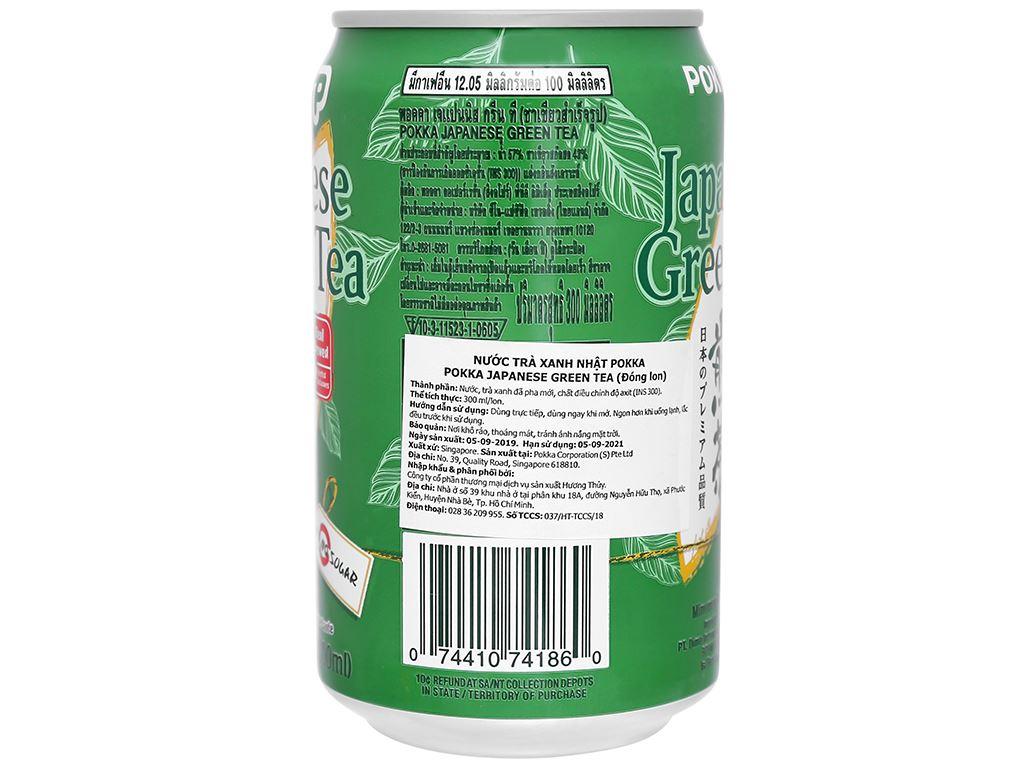 Thùng 24 lon trà xanh Nhật Pokka không đường 300ml 3