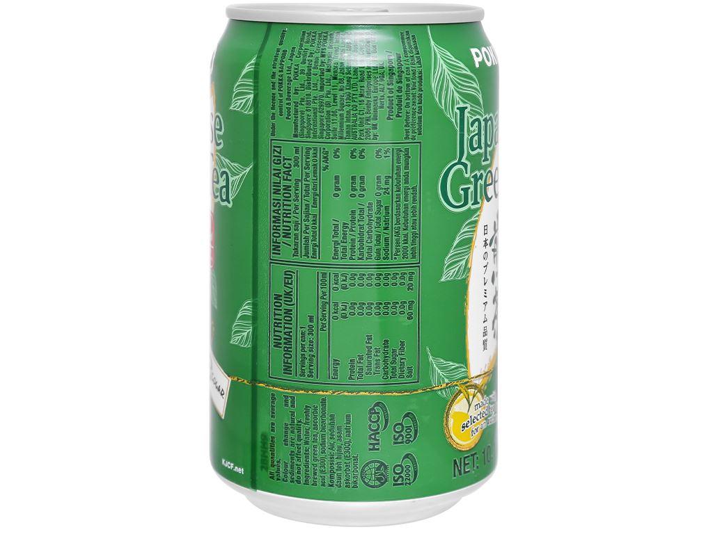 Thùng 24 lon trà xanh Nhật Pokka không đường 300ml 4