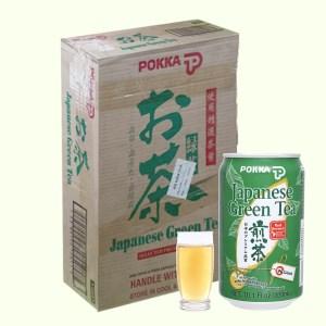Thùng 24 lon trà xanh Nhật Pokka không đường 300ml