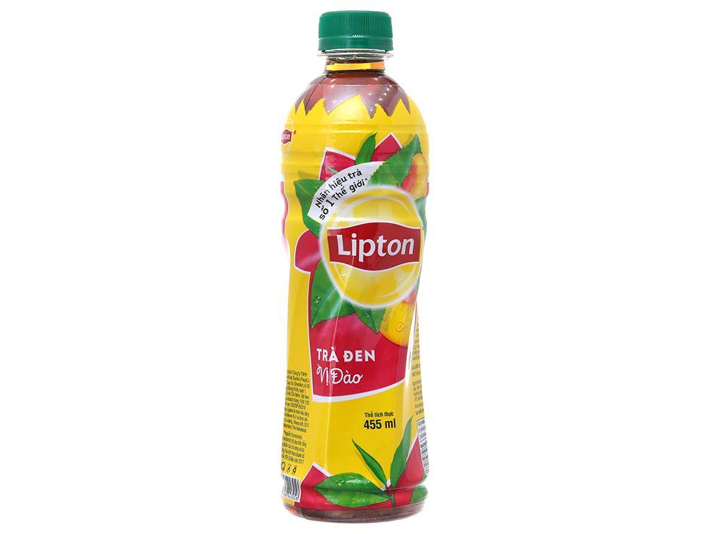 6 chai trà đen Lipton vị đào 455ml 2