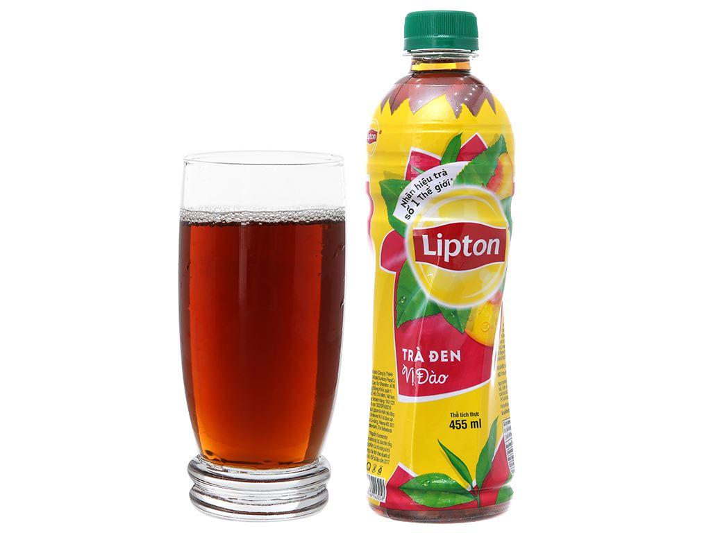 6 chai trà đen Lipton vị đào 455ml 5