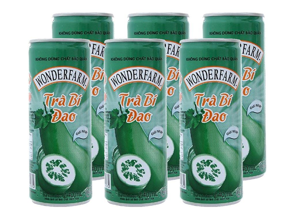 6 lon trà bí đao Wonderfarm 1