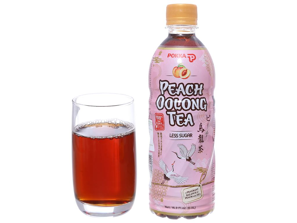 6 chai trà ô long Pokka vị đào 500ml 4