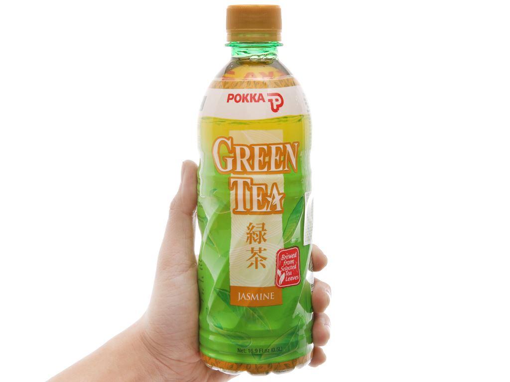 6 chai trà xanh hoa lài Pokka 500ml 3