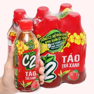 6 chai C2 hương táo 360ml