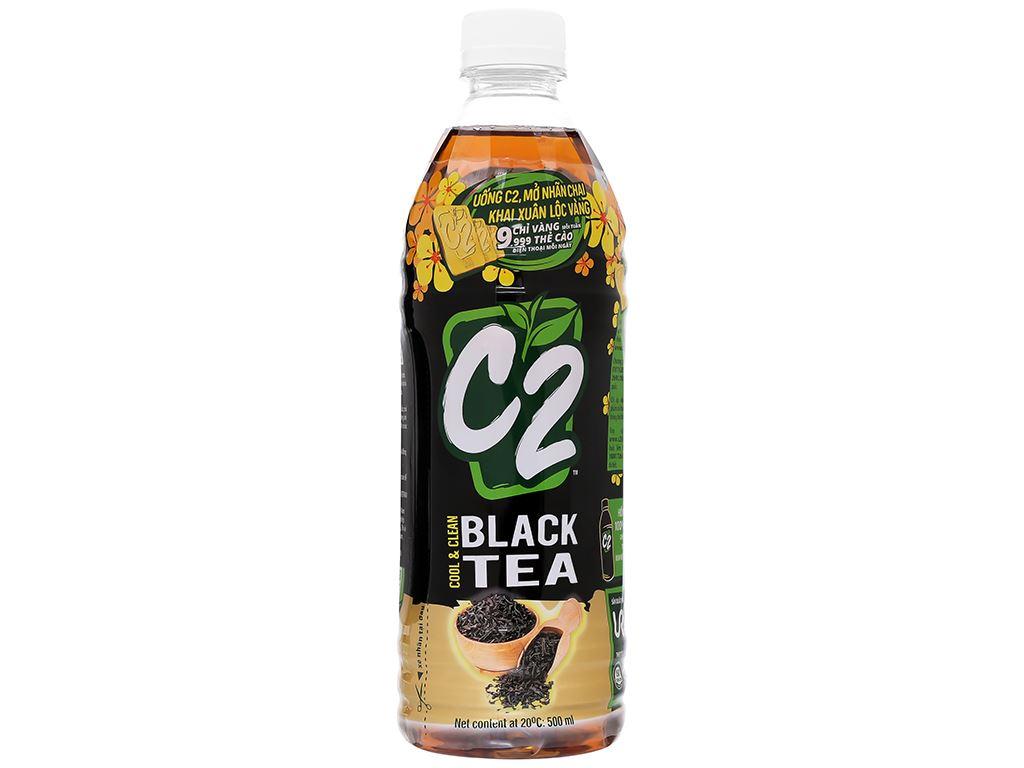 Thùng 24 chai hồng trà C2 455ml 2