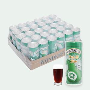 Thùng 24 lon trà bí đao Wonderfarm 240ml