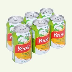 6 lon trà bí đao Yeo's 300ml