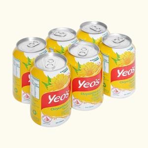 6 lon trà hoa cúc Yeo's 300ml