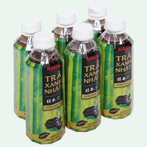 6 chai trà xanh Nhật Kirin ít đường 345ml