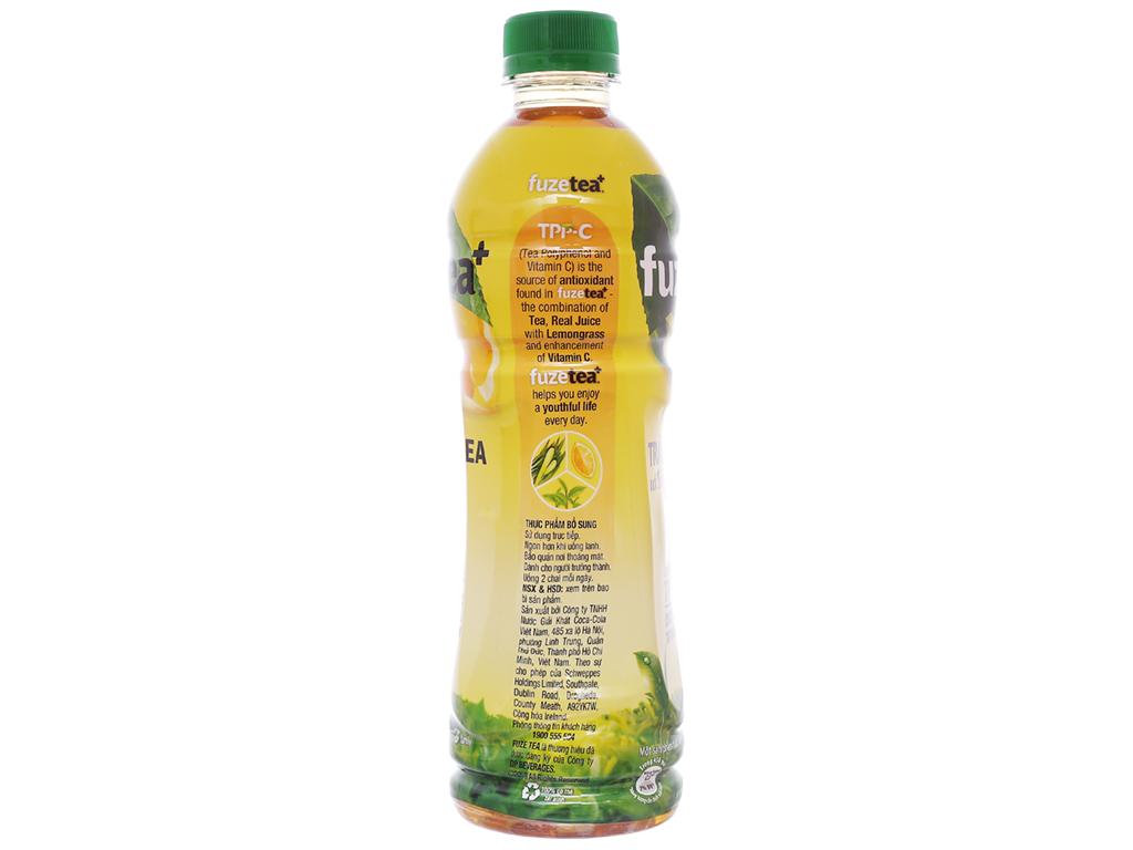 24 chai trà chanh với sả Fuze Tea 450ml 3