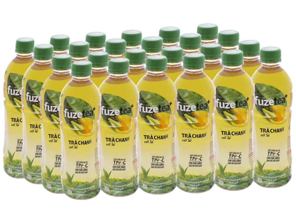24 chai trà chanh với sả Fuze Tea 450ml 1