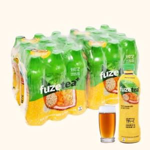 24 chai trà chanh dây và hạt chia Fuze Tea 450ml
