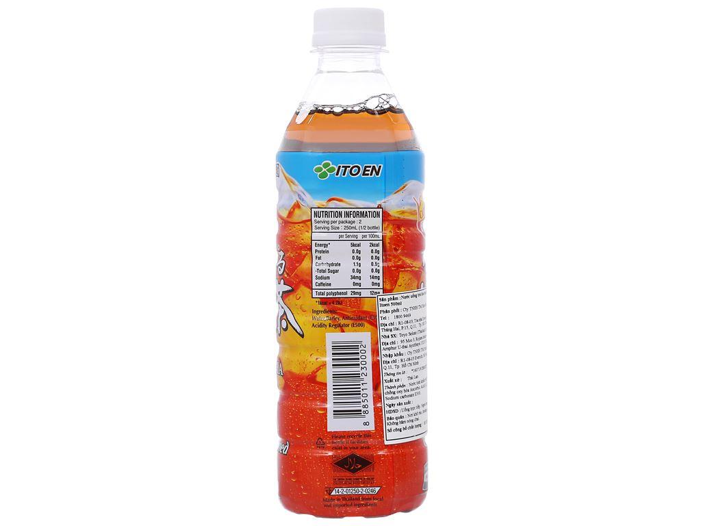 Thùng 24 chai trà lúa mạch ITOEN Mugicha không đường 500ml 3