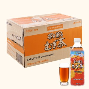 Thùng 24 chai trà lúa mạch ITOEN Mugicha 500ml