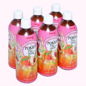 6 chai trà đào Pokka 500ml
