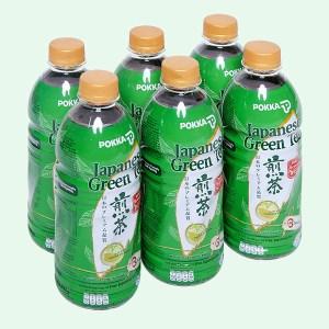 6 chai trà xanh Nhật Pokka không đường 500ml