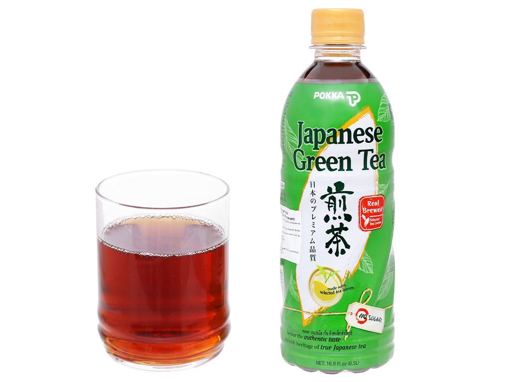 Thùng 24 chai Nhật Pokka không đường 500ml 7