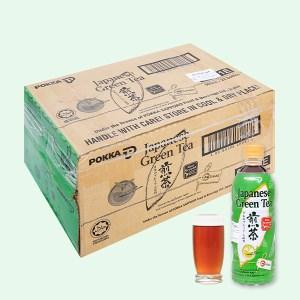 Thùng 24 chai Nhật Pokka không đường 500ml