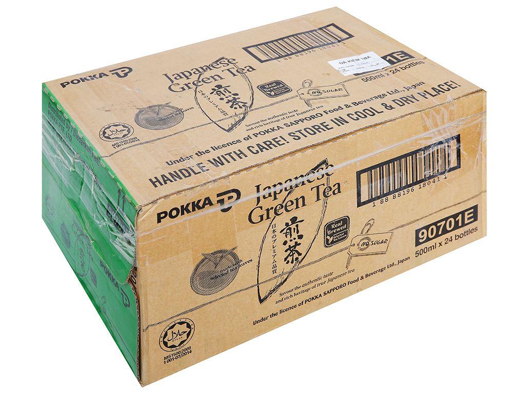 Thùng 24 chai Nhật Pokka không đường 500ml 1