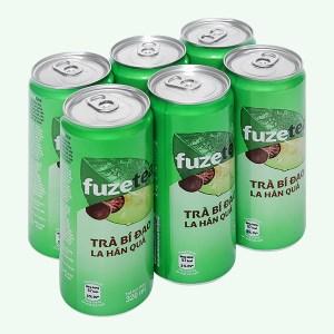 6 lon trà bí đao Fuze Tea la hán quả 330ml