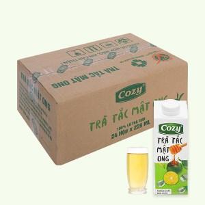 Thùng 24 hộp trà tắc mật ong Cozy 225ml
