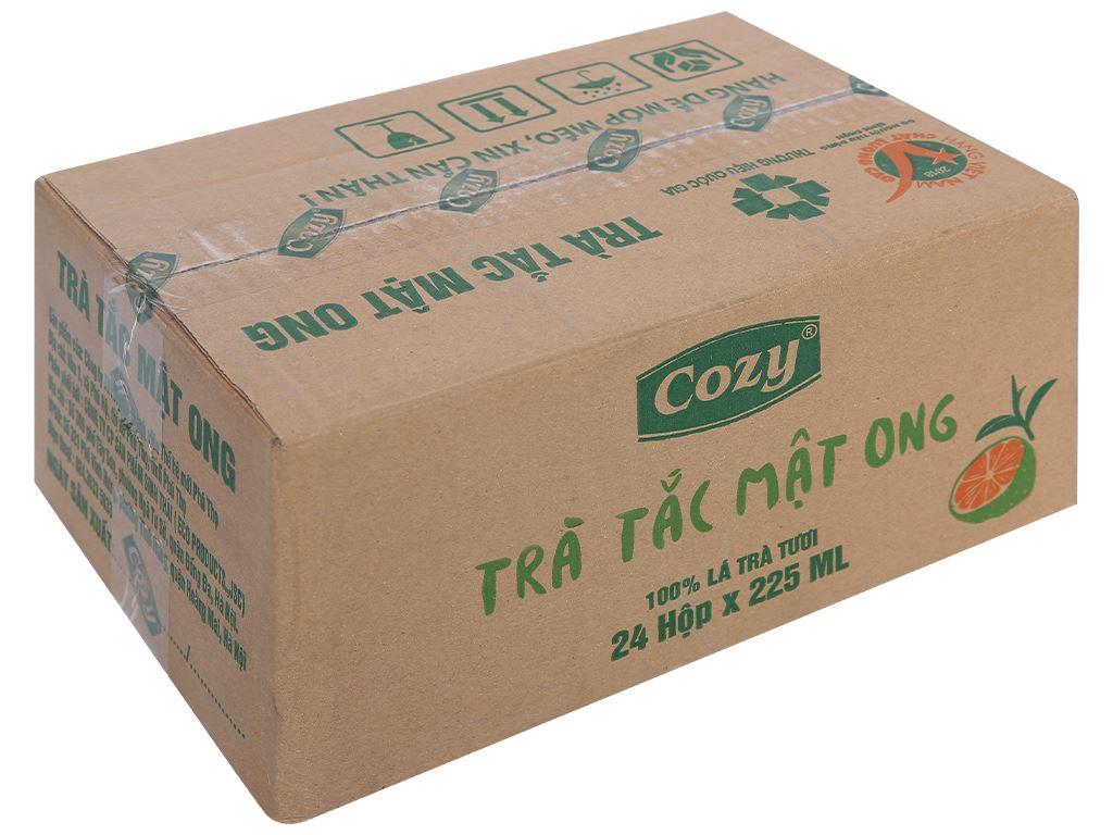 Thùng 24 hộp trà tắc mật ong Cozy 225ml 1