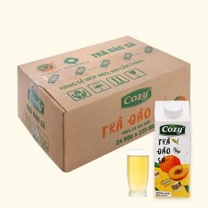 Thùng 24 hộp trà đào sả Cozy 225ml