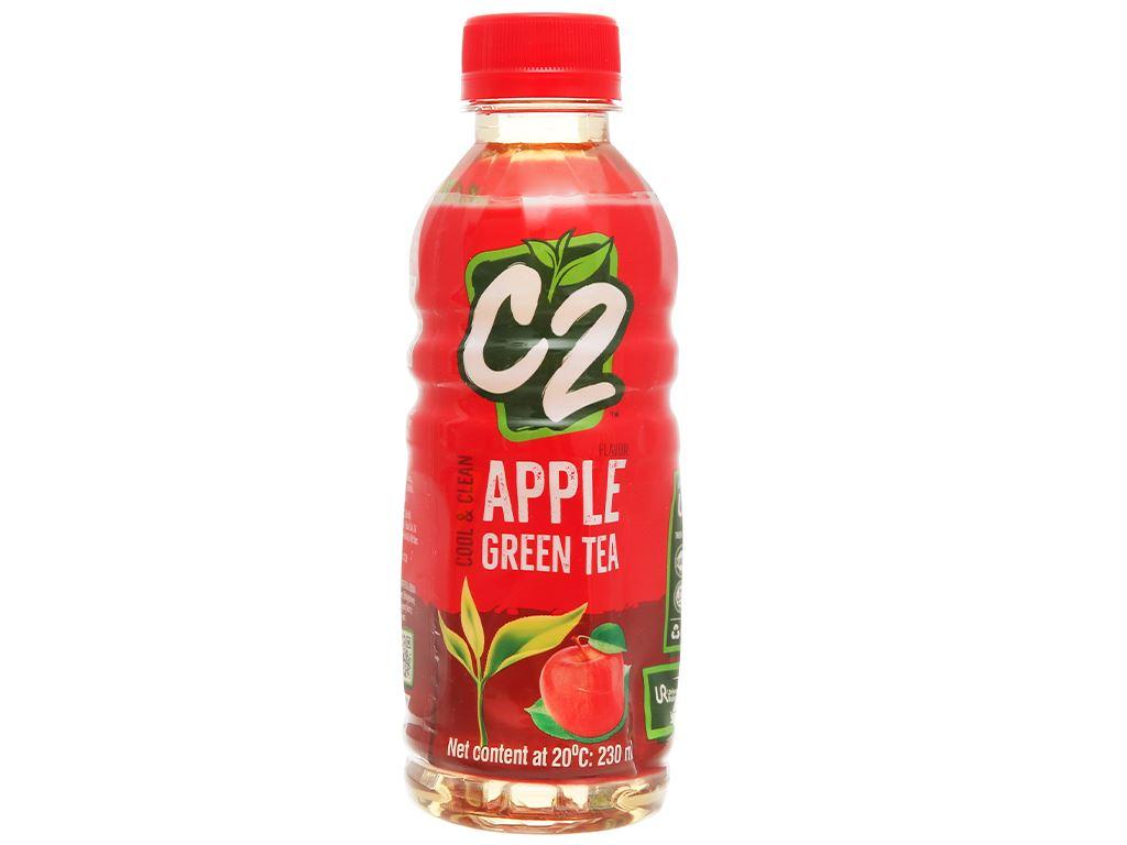 Trà xanh C2 hương táo 230ml 2