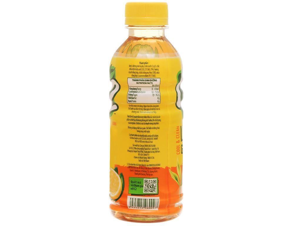 Lốc 6 chai trà xanh C2 hương chanh 230ml 6