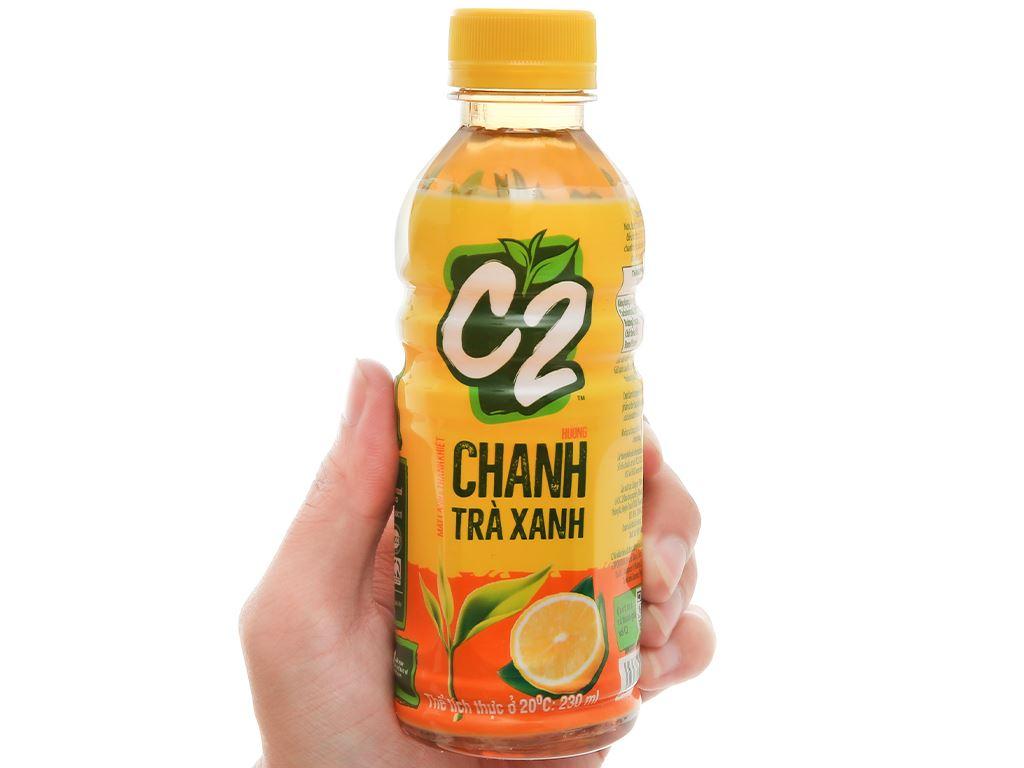 Thùng 24 chai trà xanh C2 hương chanh 230ml 7