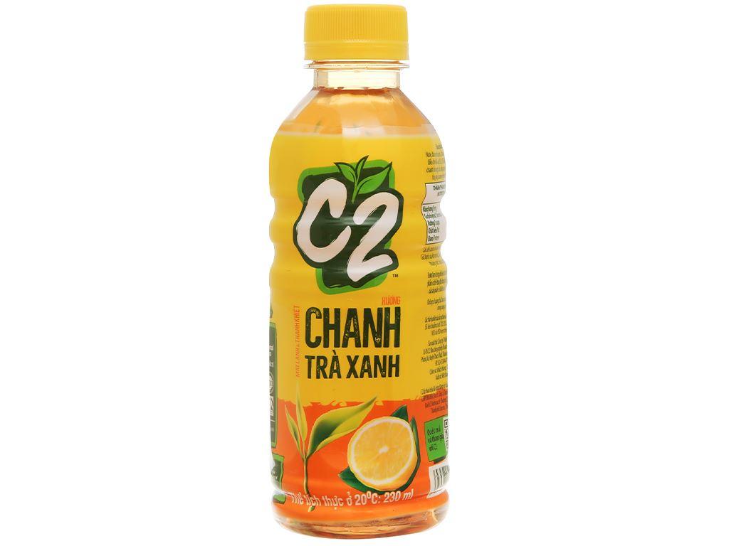 Thùng 24 chai trà xanh C2 hương chanh 230ml 2