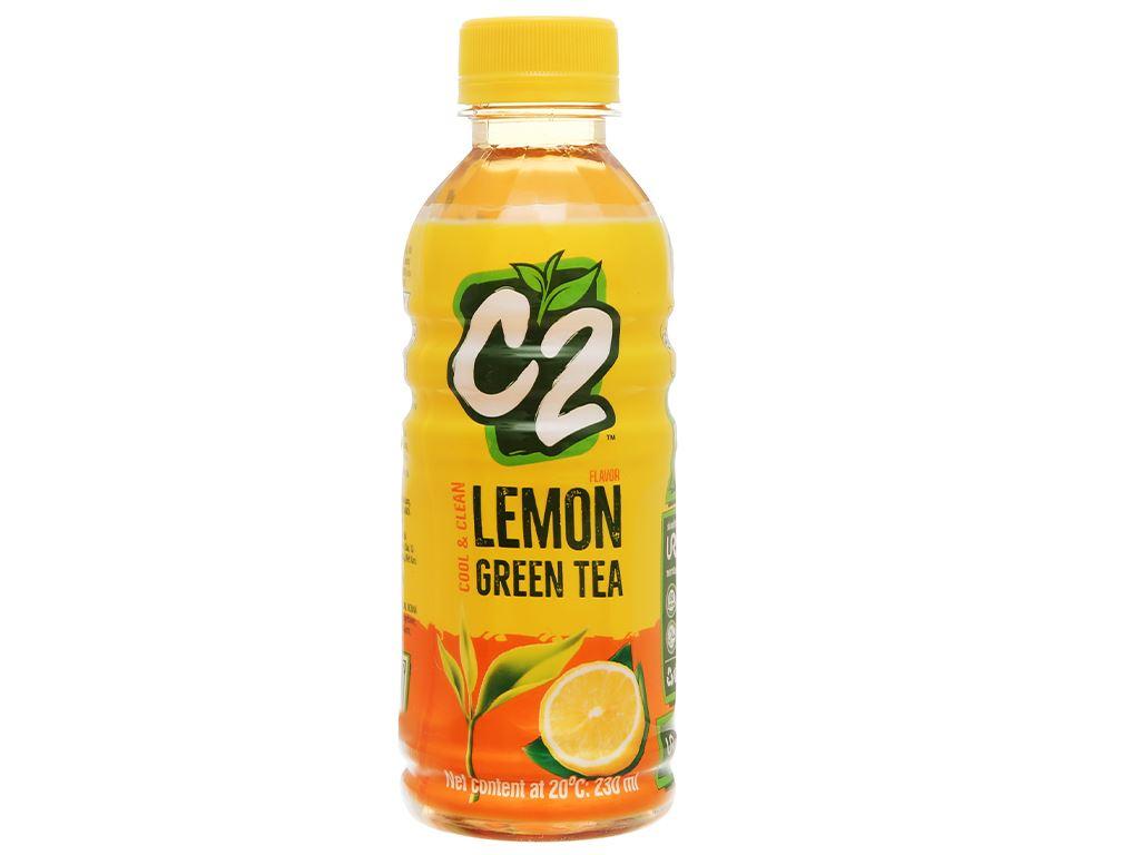 Thùng 24 chai trà xanh C2 hương chanh 230ml 3