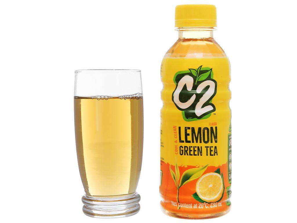 Thùng 24 chai trà xanh C2 hương chanh 230ml 8