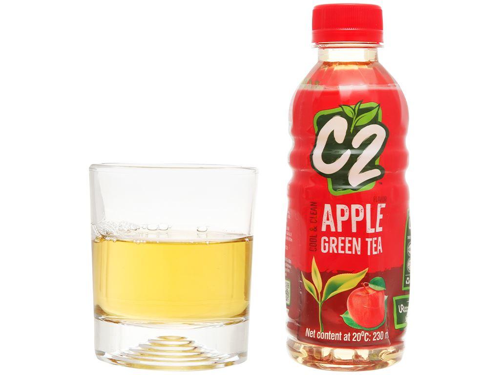 Thùng 24 chai trà xanh C2 hương táo 230ml 6