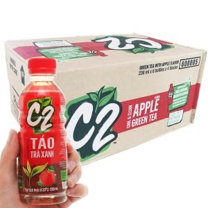 Thùng 24 chai trà xanh C2 hương táo 230ml